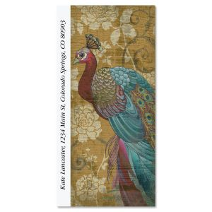 Regal Peacock Oversized Address Labels