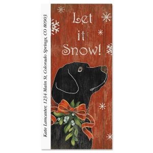 Mistletoe Hound Oversized Return Address Labels