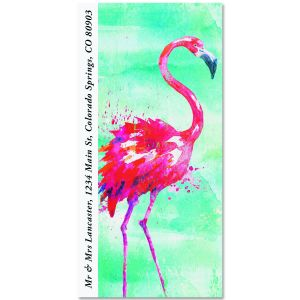 Flamingo Oversized Return Address Labels