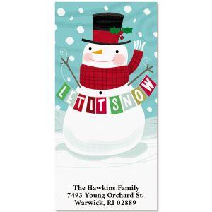 Let It Snow Snowman Oversized Return Address Labels