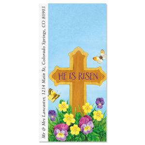 Easter Cross Oversized Return Address Labels