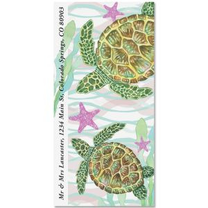 Sea Turtles Oversized Return Address Labels