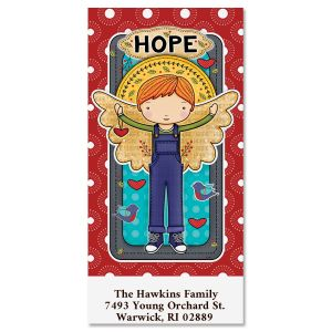Hope Angel Oversized Return Address Labels