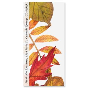 Leaves Falling Oversized Return Address Labels