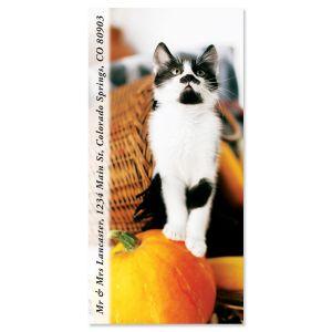 Autumn Fur Baby Oversized Return Address Labels