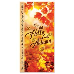 Hello Autumn Oversized Return Address Labels