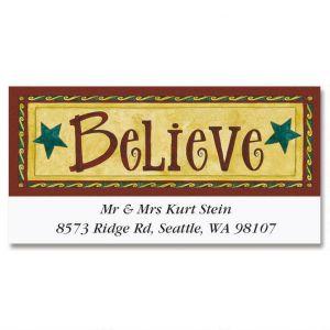 Believe Deluxe Address Labels