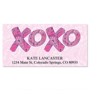 XOXO Deluxe Address Labels