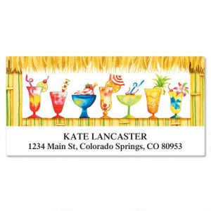 Tiki Bar Deluxe Address Labels