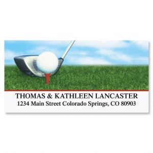 Golf Club Deluxe Address Labels
