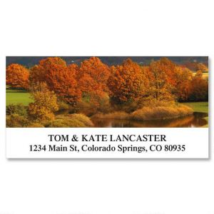 Colors of Autumn Deluxe Address Labels