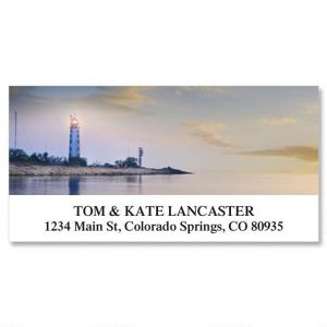 Seascape and Lighthouse Deluxe Address Labels