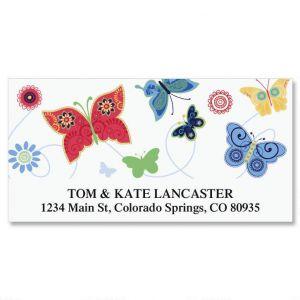 Delicate Butterflies  Deluxe Address Labels