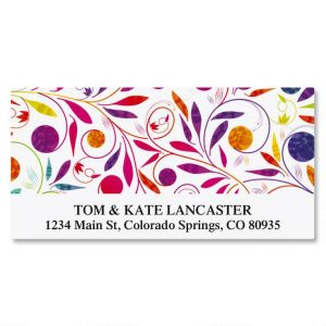 Color Swirl Deluxe Address Labels