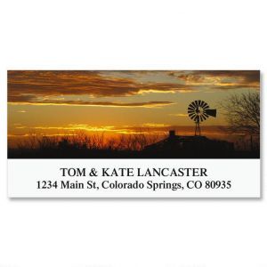 Windmill At Sunset Deluxe Address Labels