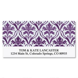 Aubergine Elegance Deluxe Address Labels