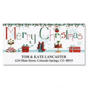 Christmas Treats Deluxe Address Labels