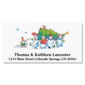 Snowman & Friends Deluxe Return Address Labels