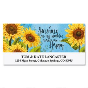 Happy Sunshine Deluxe Address Labels
