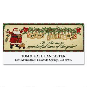 Vintage Santa Deluxe Address Labels