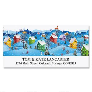 Snow Village Deluxe Address Labels