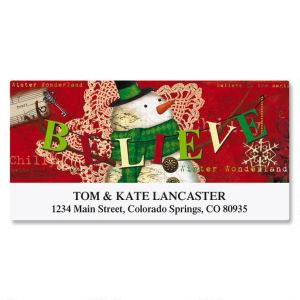Believe Banner Deluxe Address Labels