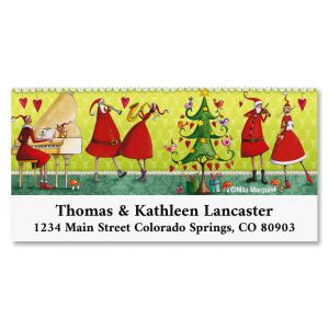 Musical Christmas Deluxe Address Labels