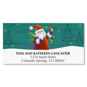 Santa & Noel Deluxe Christmas Address Labels