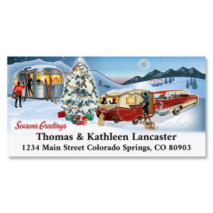 Nostalgic Greeting Deluxe Address Labels