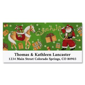 Cowboy Santa Deluxe Address Labels