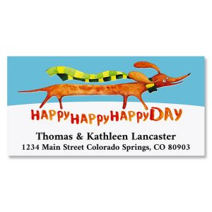 A Very Happy Day Deluxe Return Address Labels
