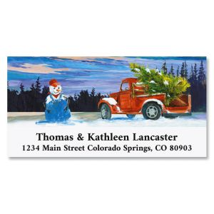 Christmas Farmer Deluxe Address Labels