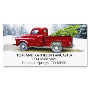 Winter Road Deluxe Return Address Labels