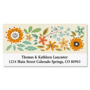 Bold Flower Deluxe Return Address Labels