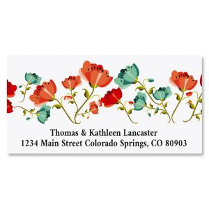 Happy Spring Deluxe Return Address Labels