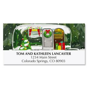 Christmas Getaway Deluxe Christmas Address Labels