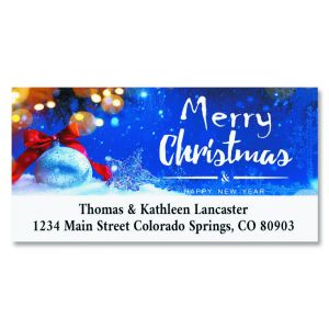 Twinkling Crystals Foil Deluxe Address Labels