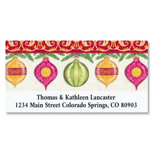 Ornaments Deluxe Christmas Address Labels