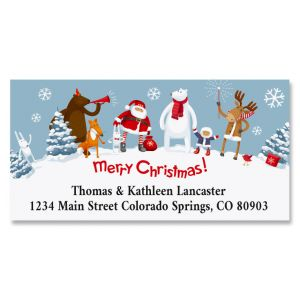 Christmas Party Deluxe Return Address Labels