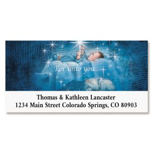 Star Heart Nativity Deluxe Return Address Labels