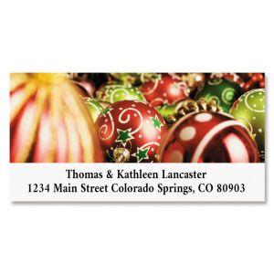 Christmas Joy Deluxe Return Address Labels