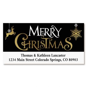 Festive Holidays Deluxe Return Address Labels