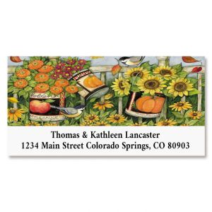 Flower Bucket Deluxe Return Address Labels