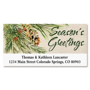 Pine & Berries Deluxe Return Address Labels