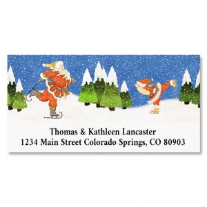 Snowbunga Deluxe Return Address Labels