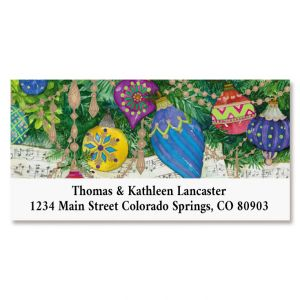 Music Garland Deluxe Return Address Labels