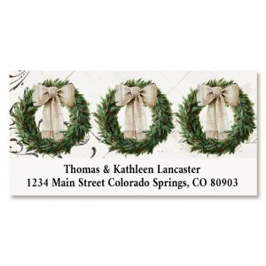 Cozy Knit Holiday Deluxe Return Address Labels