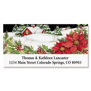 Snow Home Deluxe Return Address Labels