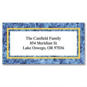 Blue Granite Border Address Labels