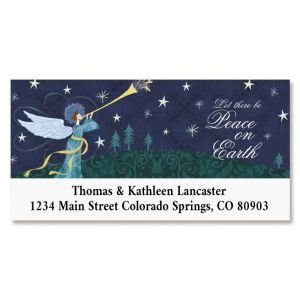 Peace Angel Deluxe Return Address Label